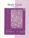 Book Cover Study Guide for use with Managerial Economics and Business Strategy
