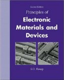 Book Cover Principles of Electronic Materials and Devices with CD-ROM