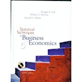 Book Cover Statistical Techniques in Business & Economics (Irwin/Mcgraw-Hill Series in Operations and Decision Sciences.)