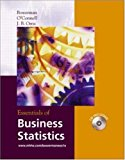 Book Cover Essentials of Business Statistics with Student CD-ROM