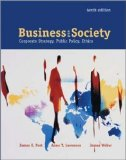 Book Cover Business & Society: Corporate Strategy, Public Policy, and Ethics  with PowerWeb and Enron Case