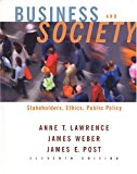 Book Cover Business and Society: Stakeholders, Ethics, Public Policy