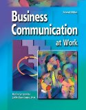 Book Cover Business Communications at Work