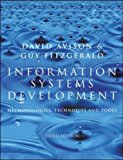 Book Cover Information Systems Development: Methodologies, Techniques and Tools (Information systems series)