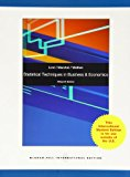 Book Cover Statistical Techniques in Business and Economics with Connect Plus Online Access