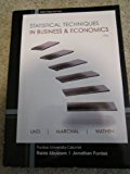 Book Cover Statistical Techniques in Business & Economics