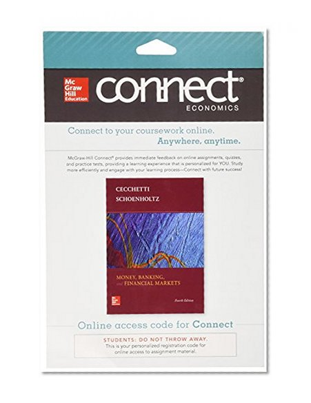 Book Cover Connect Economics with LearnSmart One Semester Access Card for Money, Banking and Financial Markets