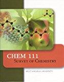 Book Cover Chem 111 Survey of Chemistry West Virginia University