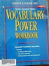 Book Cover Vocabulary Power Workbook, Grade 6, Teacher Annotated Edition