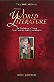 Book Cover World Literature: Anthology of Short Stories, Poetry, and Drama  Teachers Manual