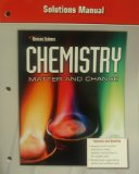 Book Cover Solutions Manual, Glencoe Manual (Chemistry, Matter and Change)