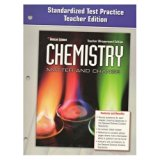 Book Cover Glencoe Chemistry Test Practice Teacher Edition (Matter and Change)
