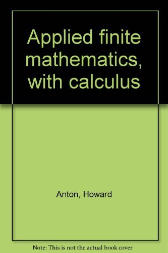 Book Cover Applied finite mathematics, with calculus