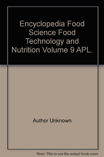 Book Cover Encyclopedia Food Science Food Technology and Nutrition Volume 9 APL.