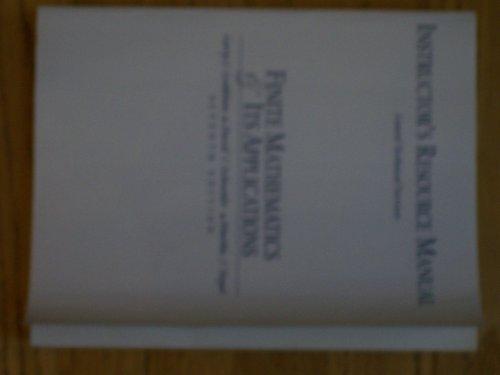 Book Cover Finite Mathematics Its Applications