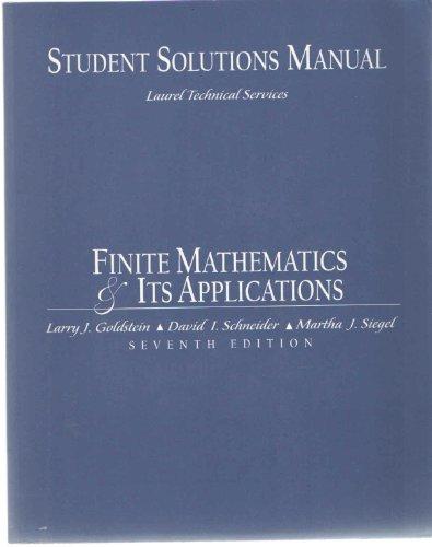 Book Cover Finite Mathematics: Its Applications