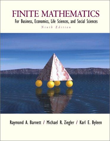 Book Cover Finite Mathematics for Business, Economics, Life Sciences and Social Sciences