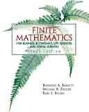 Book Cover Finite Mathematics for Business Economics, Life Sciences and Social Sciences (10th Edition)