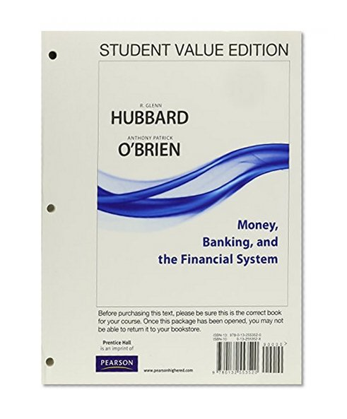 Book Cover Money, Banking and the Financial System, Student Value Edition