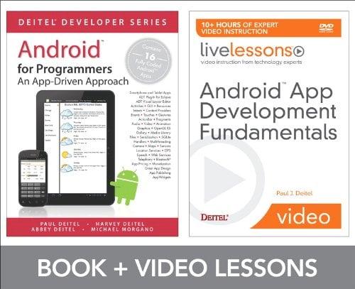 Book Cover Android App Development Fundamentals LiveLessons Bundle (Livelessons: Deitel Developers Series)
