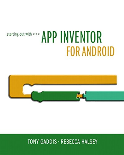 Book Cover Starting Out With App Inventor for Android