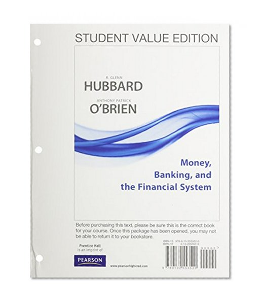 Book Cover Student Value Edition for Money, Banking, and the Financial System plus NEW MyEconLab with Pearson eText (1-semester access) -- Access Card Package