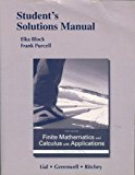 Book Cover Student's Solutions Manual for Finite Mathematics and Calculus with Applications