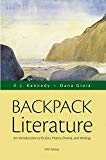 Book Cover Backpack Literature: An Introduction to Fiction, Poetry, Drama, and Writing Plus MyLiteratureLab with The Literature Collection eText -- Access Card ... (Kennedy & Gioia, The Literature Series)