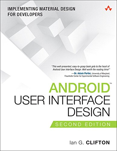 Book Cover Android User Interface Design: Implementing Material Design for Developers (2nd Edition) (Usability)
