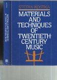 Book Cover Materials and Techniques of Twentieth Century Music