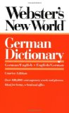 Book Cover Webster's New World German Dictionary: German/English English/German