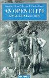 Book Cover An Open Elite?: England 1540-1880 (Clarendon Paperbacks)