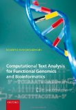 Book Cover Computational Text Analysis: For Functional Genomics and Bioinformatics
