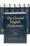 Book Cover The Oxford English Dictionary (20 Volume Set) (Vols 1-20)