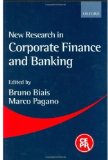 Book Cover New Research in Corporate Finance and Banking
