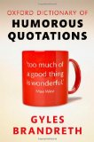 Book Cover Oxford Dictionary of Humorous Quotations 5e