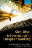 Book Cover Size, Risk, and Governance in European Banking