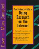 Book Cover The Student's Guide to Doing Research on the Internet