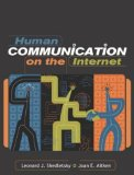 Book Cover Human Communication on the Internet
