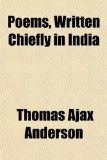 Book Cover Poems, Written Chiefly in India