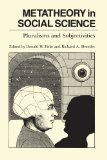Book Cover Metatheory in Social Science: Pluralisms and Subjectivities (Chicago Original Paperbacks)