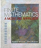 Book Cover Finite Mathematics: A Modeling Approach