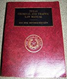 Book Cover Texas Criminal and Traffic Law Manual