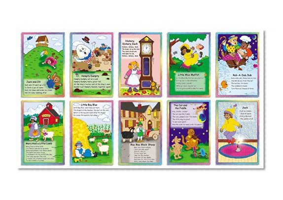 Book Cover Scholastic Teacher's Friend Nursery Rhymes Posters! Bulletin Board (TF3087)