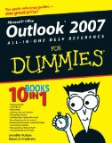 Book Cover Outlook 2007 All-in-One Desk Reference For Dummies