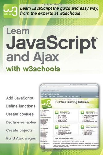 Book Cover Learn JavaScript and Ajax with w3Schools