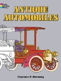 Book Cover Antique Automobiles Coloring Book (Dover History Coloring Book)