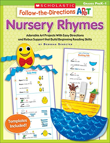Book Cover Follow-the-Directions Art: Nursery Rhymes: Adorable Art Projects With Easy Directions and Rebus Support that Build Beginning Reading Skills