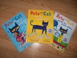 Book Cover Pete the Cat Set (Pete the Cat I Love My White Shoes, Pete the Cat Rocking in My School Shoes, and Pete the Cat and His Four Groovy Buttons)