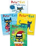 Book Cover Pete the Cat Paperback Book Set: Includes 4 Books: • I Love My White Shoes • Pete the Cat and His Four Groovy Buttons • Pete the Cat Saves Christmas • Rocking in My School Shoes